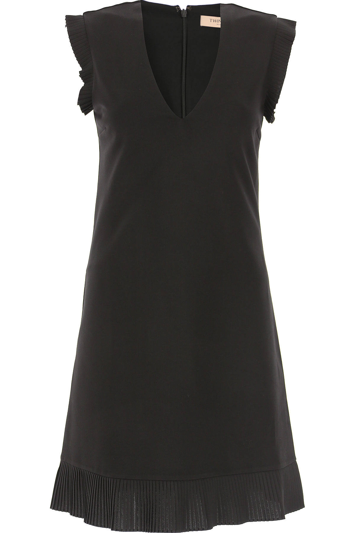 Twin Set by Simona Barbieri Dress for Women, Evening Cocktail Party On Sale, Black, Viscose, 2019, 4 6 8