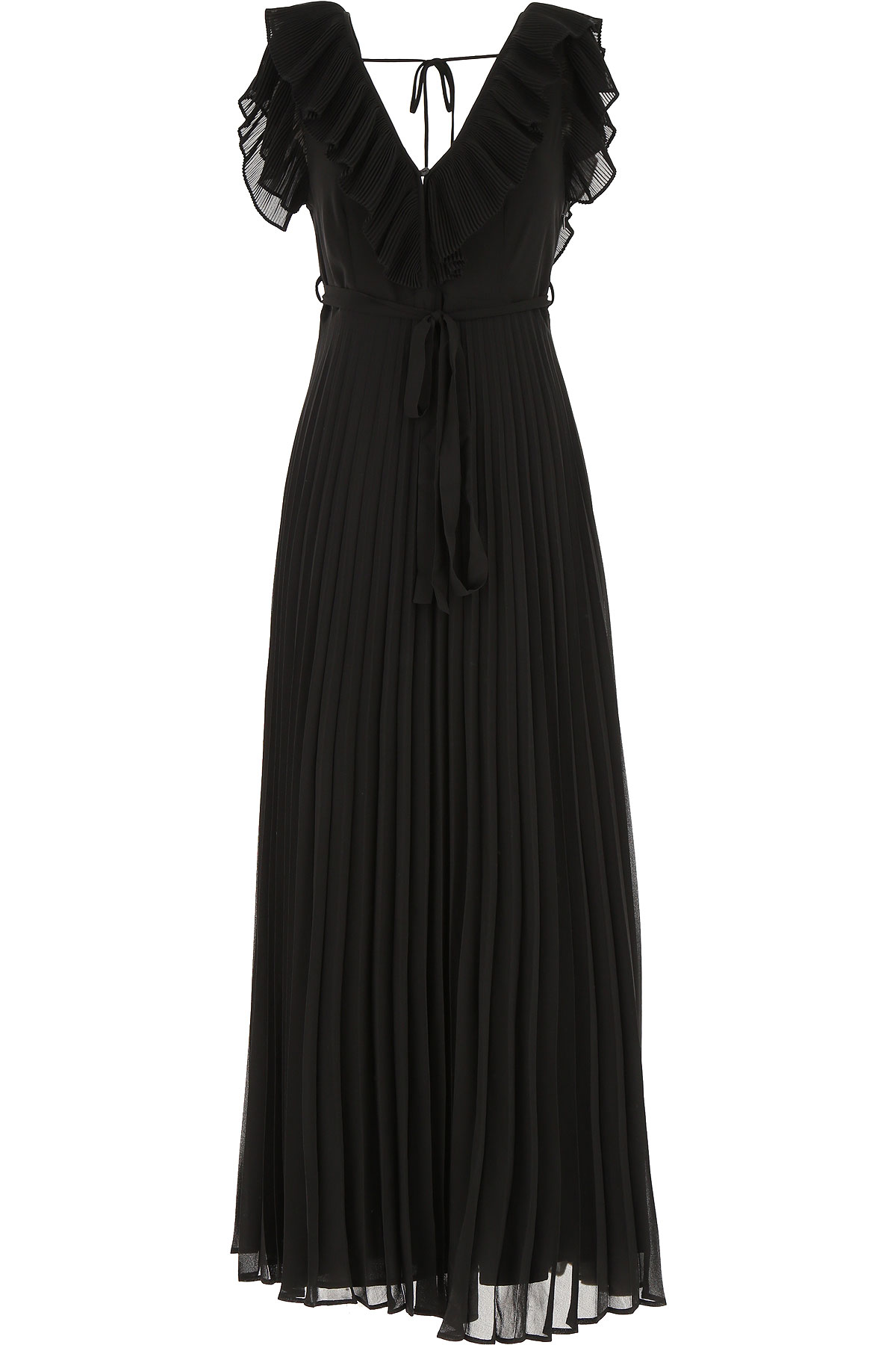 Twin Set by Simona Barbieri Dress for Women, Evening Cocktail Party On Sale, Black, polyestere, 2019, 4 6 8