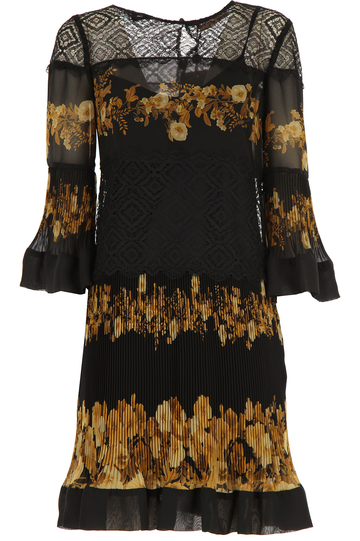 Twin Set by Simona Barbieri Dress for Women, Evening Cocktail Party On Sale, Black, polyester, 2019, 1 (S - 40/42) 2 (M - 42/44) 3 (L - 44/46)