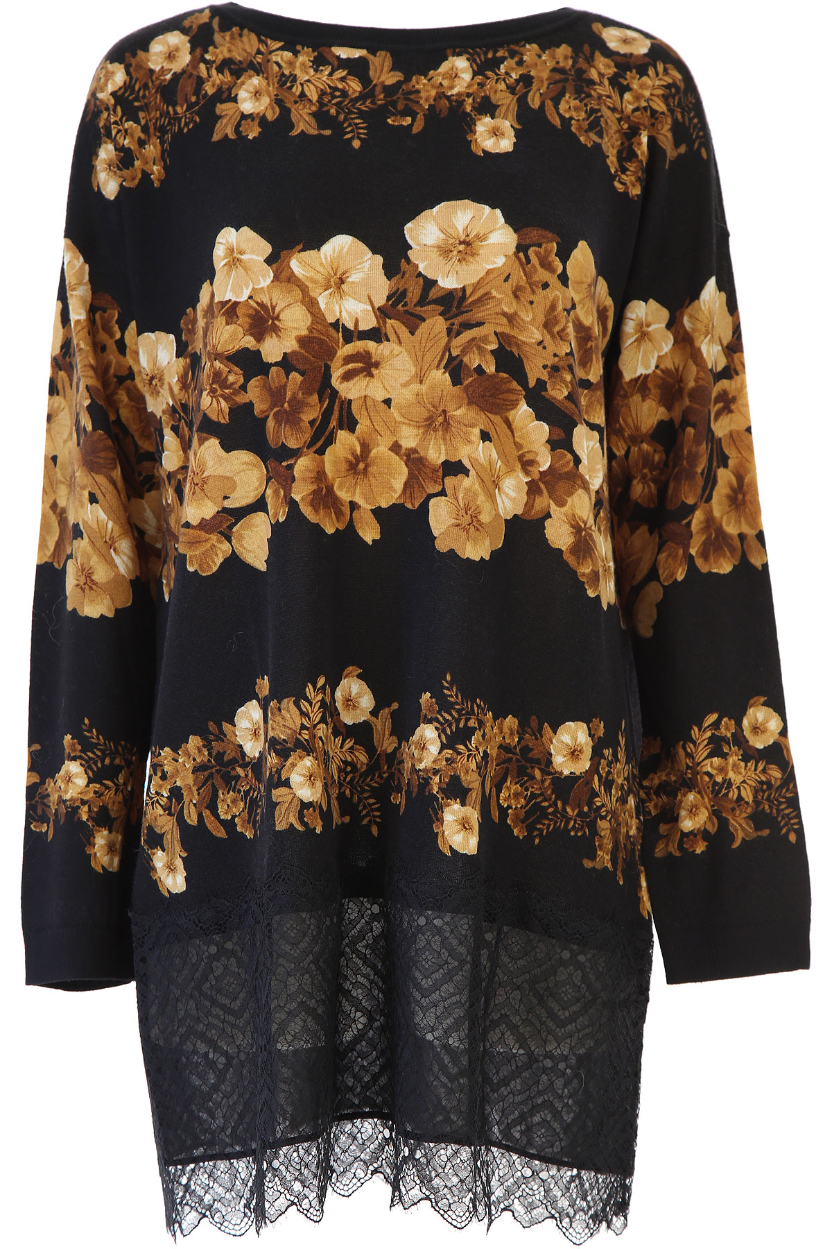 Twin Set by Simona Barbieri Dress for Women, Evening Cocktail Party On Sale, Black, Wool, 2019, 10