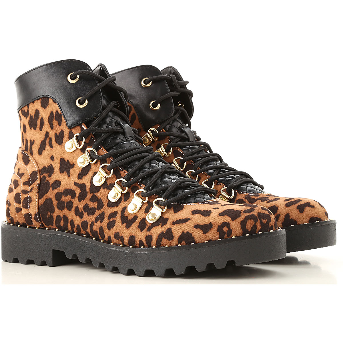 Twin Set by Simona Barbieri Boots for Women, Booties On Sale, Leopard, Fabric, 2019, 5