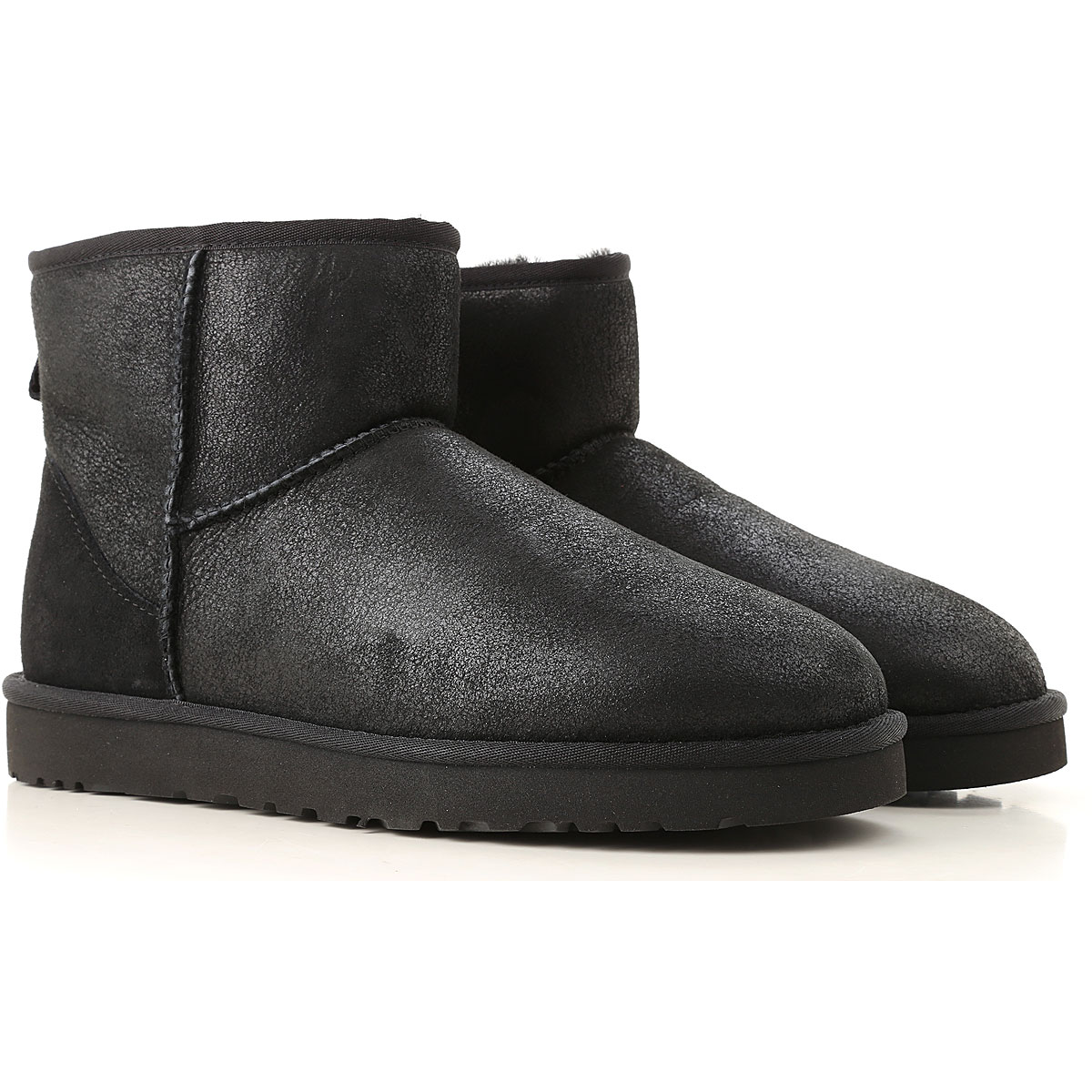 Image of UGG Boots for Men, Booties, Black, Leather, 2017, 10 11 12 7 8 9