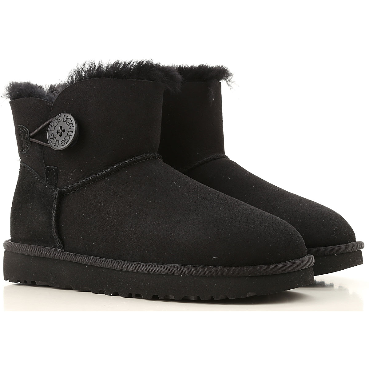 UGG Boots for Women, Booties On Sale, Black, Fur, 2019, USA 5 UK 3 5 EU 36 JAPAN 220 USA 6 UK 4 5 EU 37 JAPAN 230 USA 7 UK 5 5 EU 38 JAPAN 2