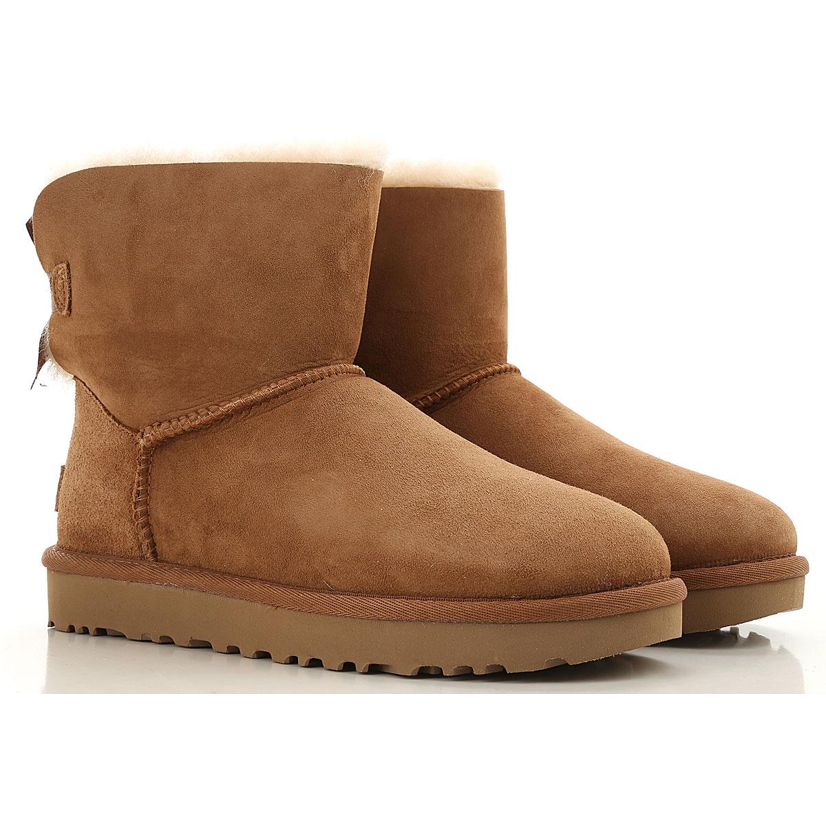 UGG Boots for Women, Booties On Sale, Chestnut, Suede leather, 2019, USA 5 UK 3 5 EU 36 JAPAN 220 USA 6 UK 4 5 EU 37 JAPAN 230 USA 7 UK 5 5 EU