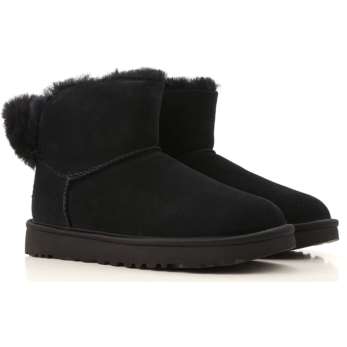 UGG Boots for Women, Booties On Sale, Black, Suede leather, 2019, 5 7