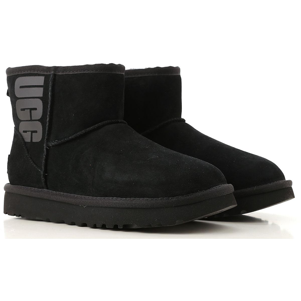 UGG Boots for Women, Booties On Sale, Black, Suede leather, 2019, USA 6 UK 4 5 EU 37 JAPAN 230 USA 9 UK 7 5 EU 40 JAPAN 260