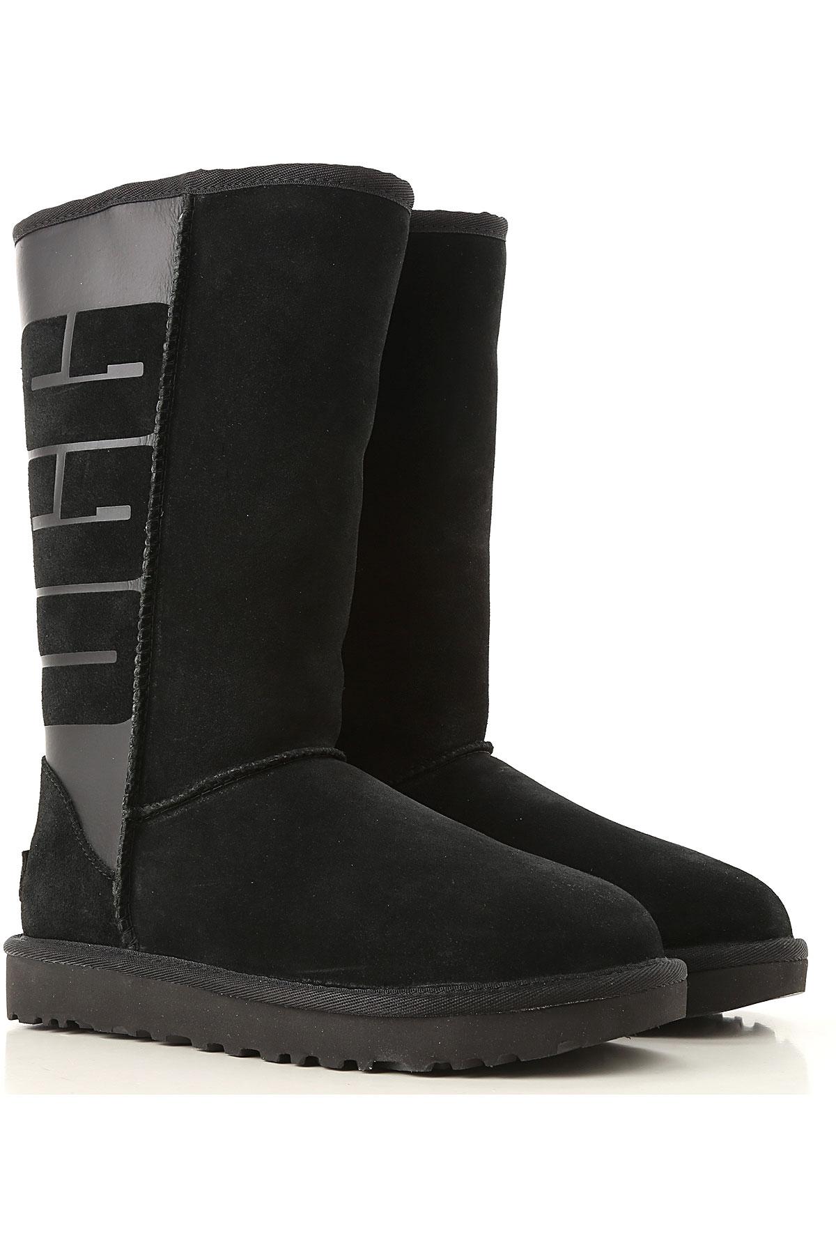 Image of UGG Boots for Women, Booties, Black, suede, 2017, USA 5 UK 3 5 EU 36 JAPAN 220 USA 6 UK 4 5 EU 37 JAPAN 230 USA 7 UK 5 5 EU 38 JAPAN 240 USA 8 UK 6 5 EU 39 JAPAN 250