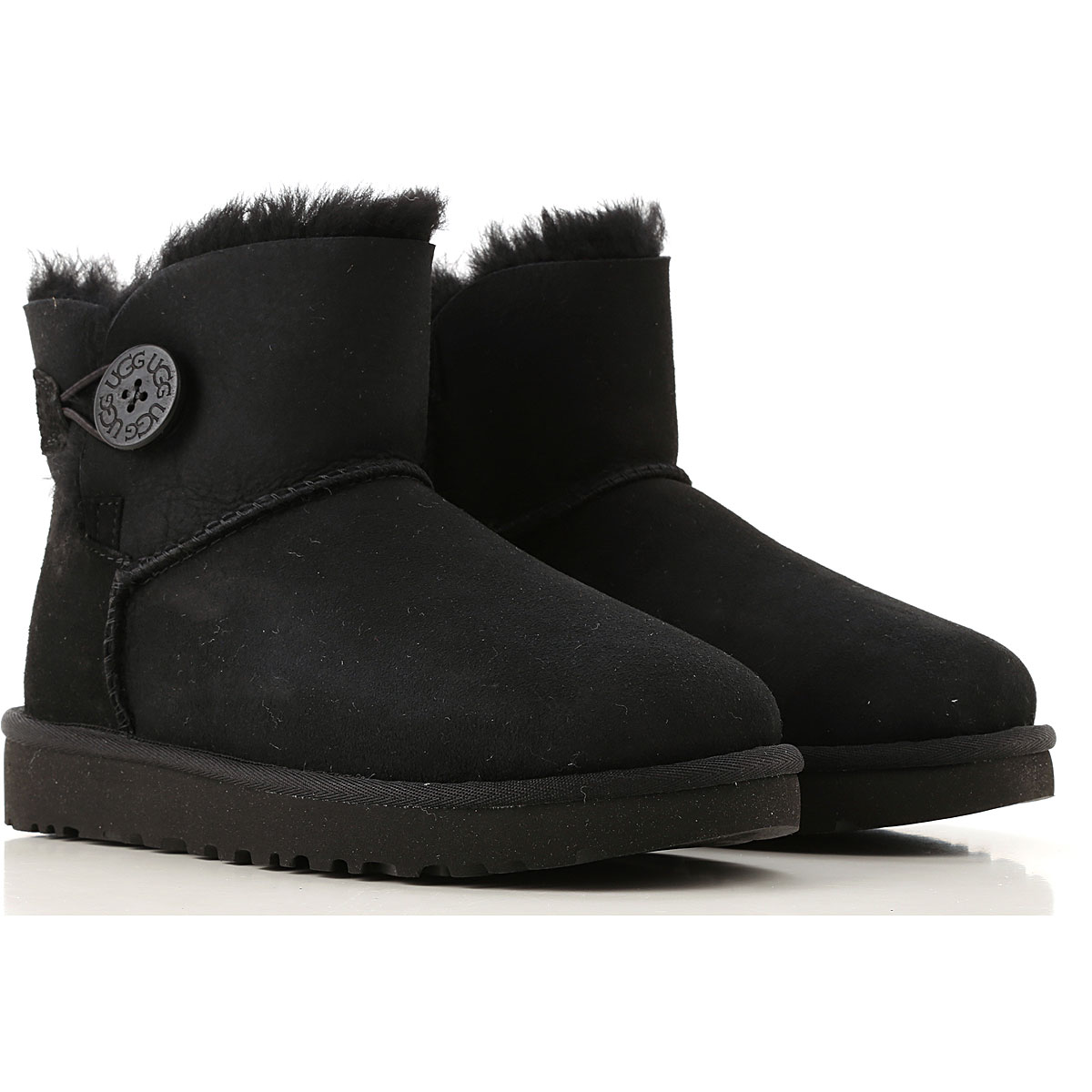 UGG Boots for Women, Booties On Sale, Black, Suede leather, 2019, USA 5 UK 3 5 EU 36 JAPAN 220 USA 6 UK 4 5 EU 37 JAPAN 230 USA 7 UK 5 5 EU 38