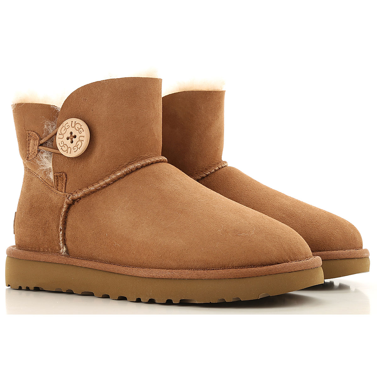 UGG Boots for Women, Booties On Sale, Chestnut, Leather, 2019, USA 5 UK 3 5 EU 36 JAPAN 220 USA 6 UK 4 5 EU 37 JAPAN 230 USA 8 UK 6 5 EU 39 J