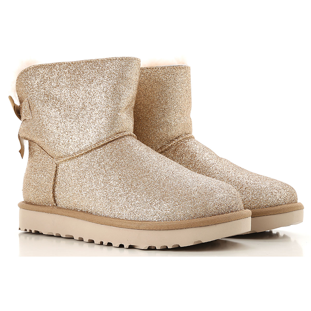 UGG Boots for Women, Booties On Sale in Outlet, Gold, Sparkle, 2019, USA 5 UK 3 5 EU 36 JAPAN 220 USA 6 UK 4 5 EU 37 JAPAN 230 USA 10 UK 8 5 E