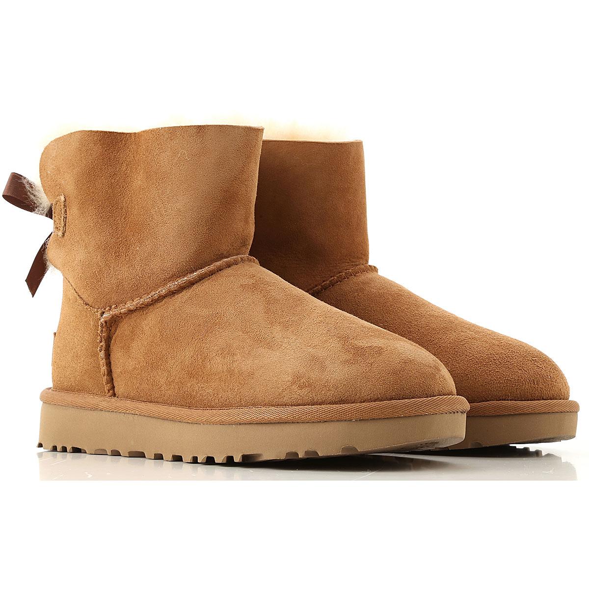 UGG Boots for Women, Booties On Sale, Chestnut, Suede leather, 2019, USA 7 UK 5 5 EU 38 JAPAN 240 USA 9 UK 7 5 EU 40 JAPAN 260