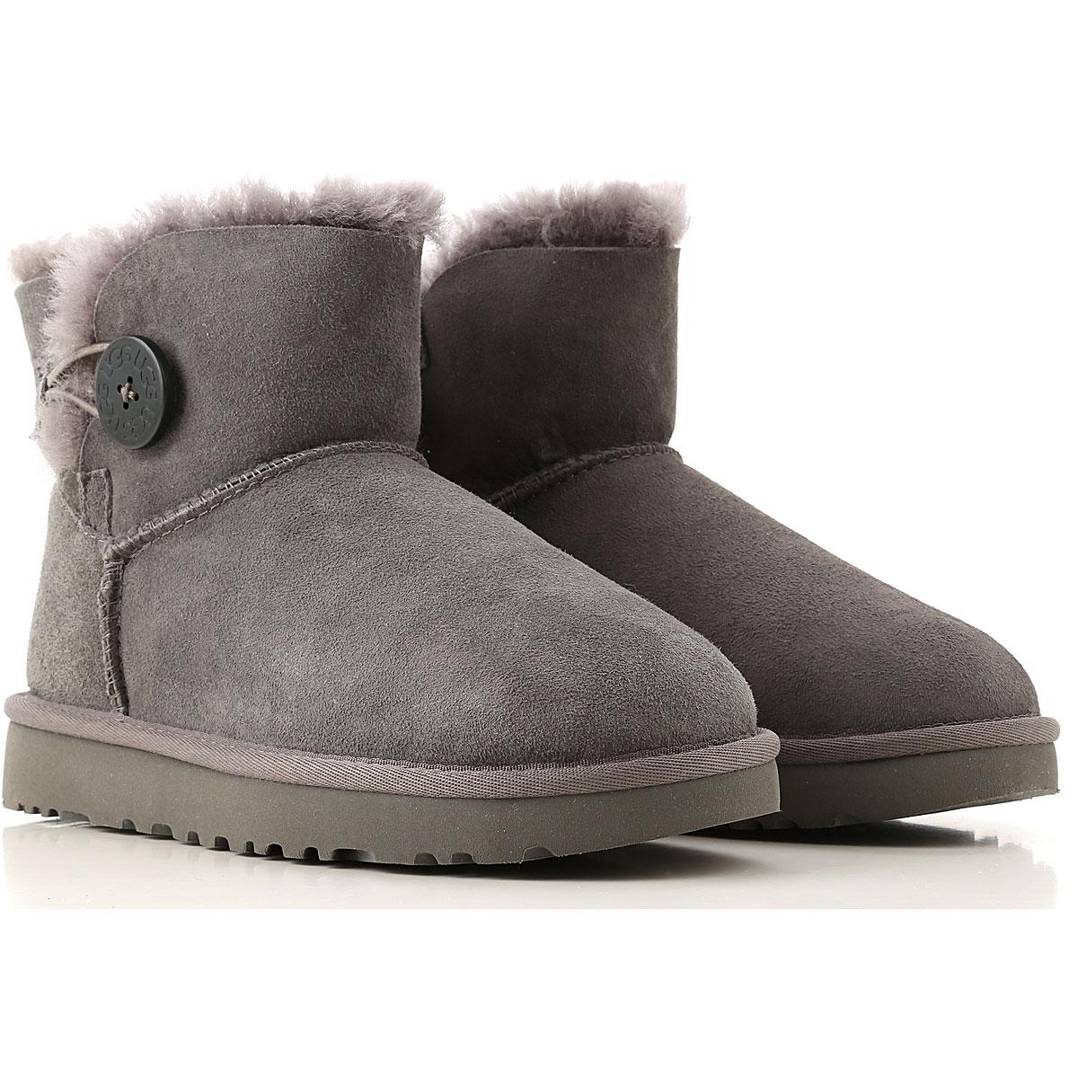 UGG Boots for Women, Booties On Sale, Medium Grey, Suede leather, 2019, USA 5 UK 3 5 EU 36 JAPAN 220 USA 6 UK 4 5 EU 37 JAPAN 230 USA 10 UK 8 5