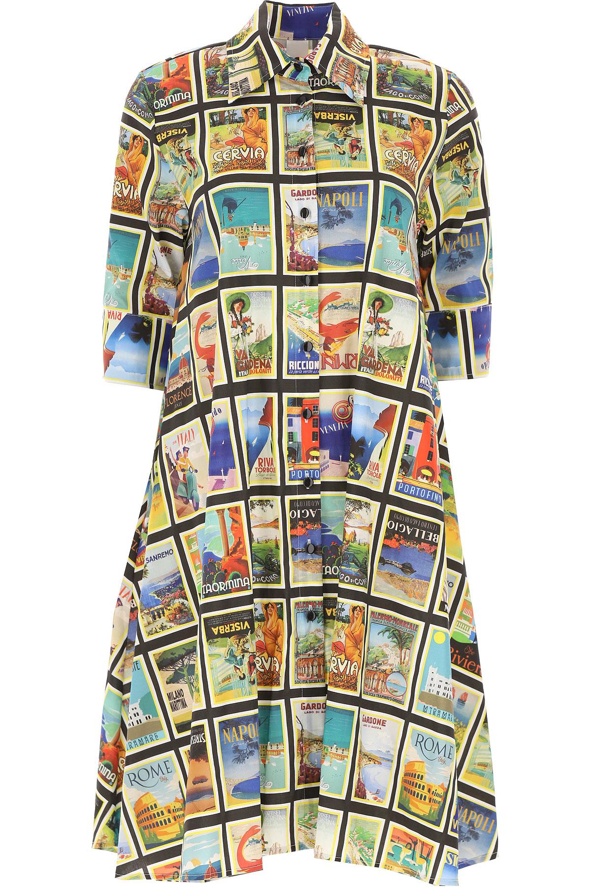 Ultrachic Dress for Women, Evening Cocktail Party On Sale, Multicolor, Cotton, 2019, 4 6 8
