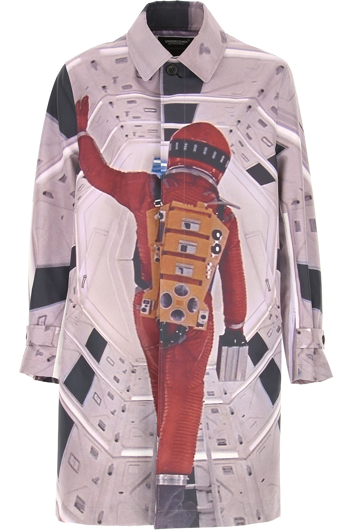 Image of Undercover Men\'s Coat, Multicolor, polyester, 2017, M S