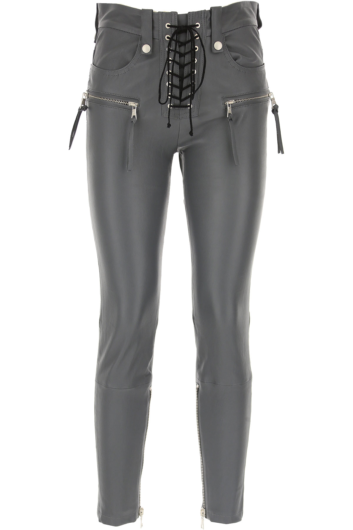 Image of Unravel Project Pants for Women, Grey, Leather, 2017, 27 28