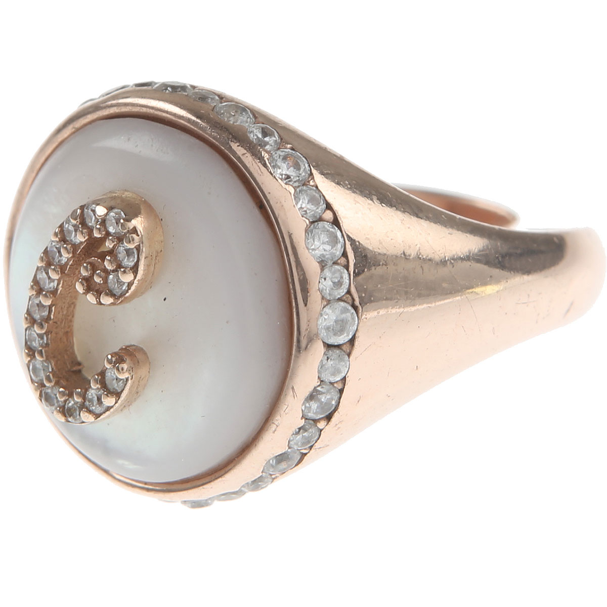 Italian Finest Jewelry Ring for Women On Sale, Rose Gold, Silver 925, 2019