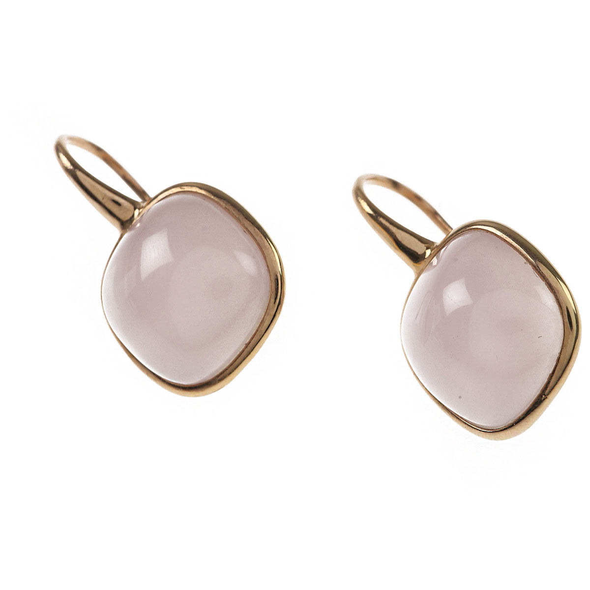 Image of Italian Finest Jewelry Earrings for Women, Pink, 18 Kt Yellow Gold, 2017