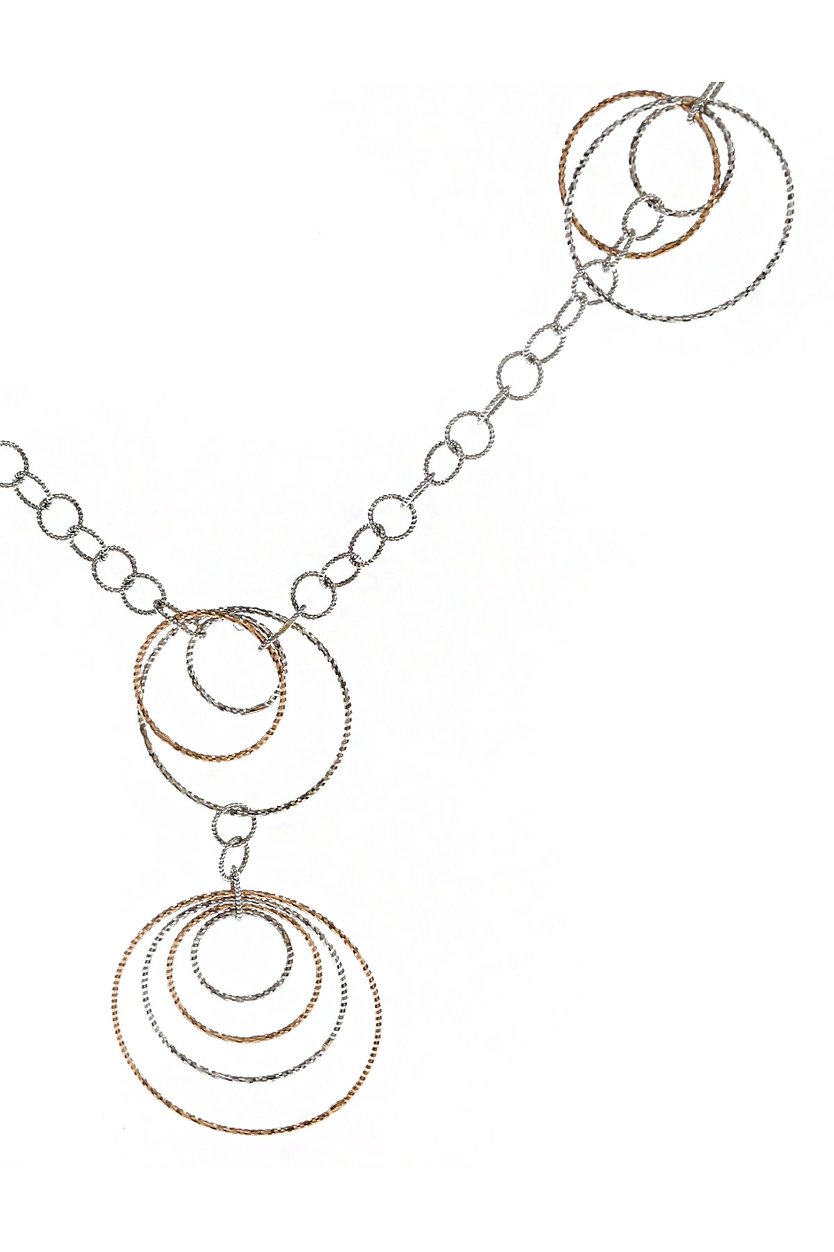 Italian Finest Jewelry Necklaces On Sale, White Gold, 18 Kt Rose Gold, 2019