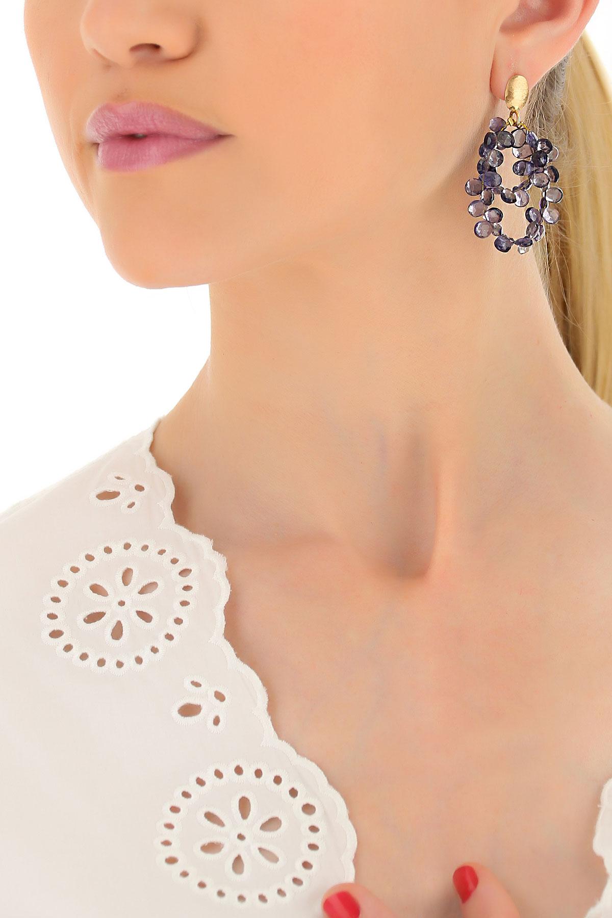 Jóias italianas de luxo Brincos para Mulher, Rosa Ouro, ouro Amarelo, 2019
