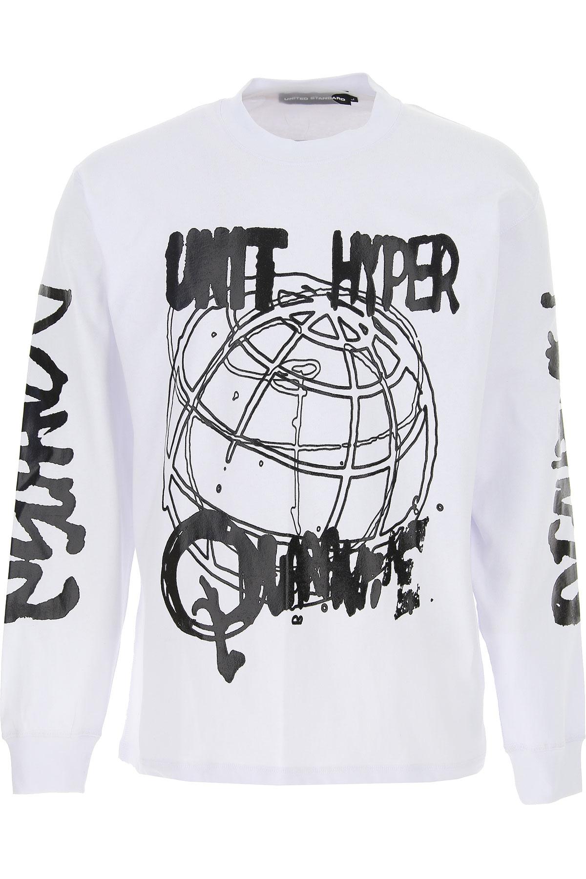 United Standard T-Shirt for Men, White, Cotton, 2019, L M S