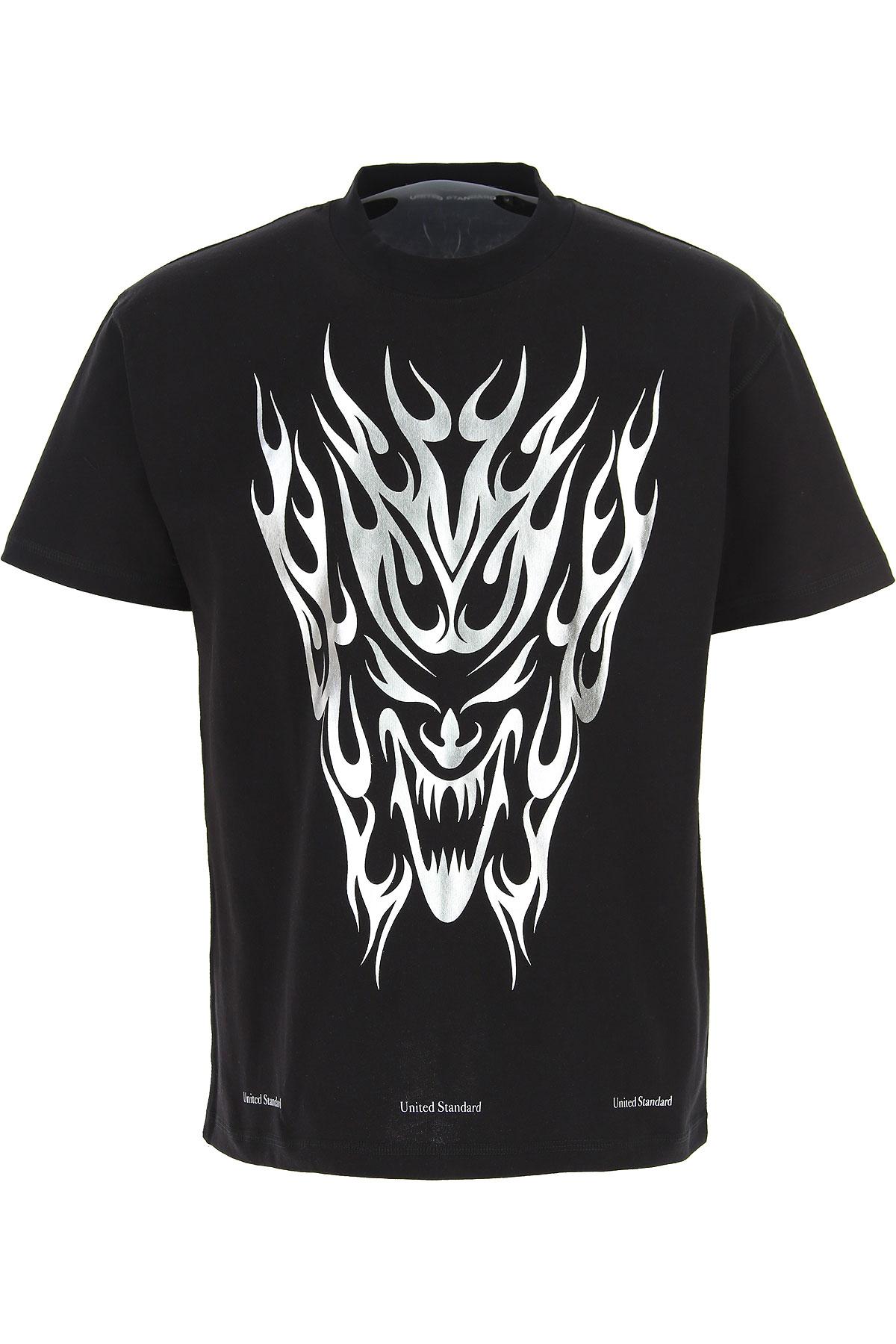 United Standard T-Shirt for Men On Sale, Black, Cotton, 2019, M S XL