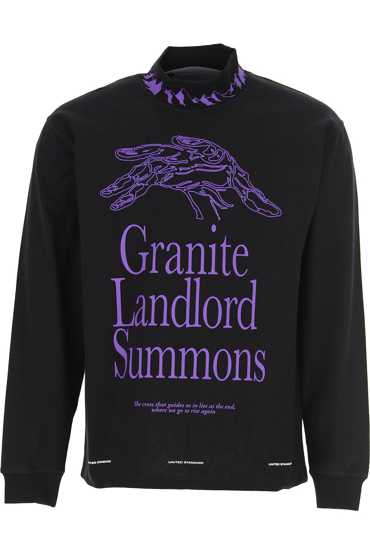 United Standard T-Shirt for Men, Black, Cotton, 2019, L S XL