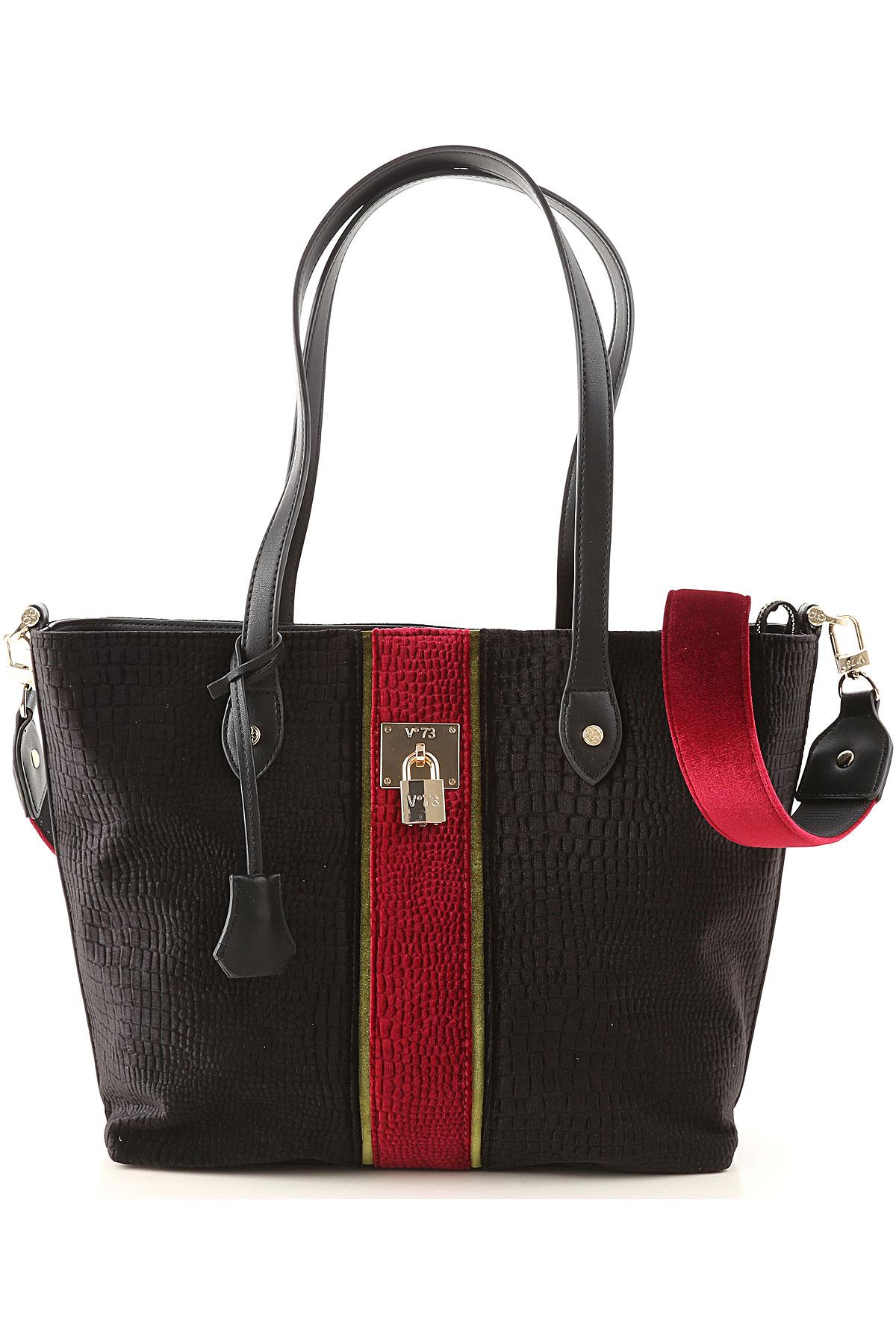 V73 Tote Bag On Sale, Black, Velvet, 2019
