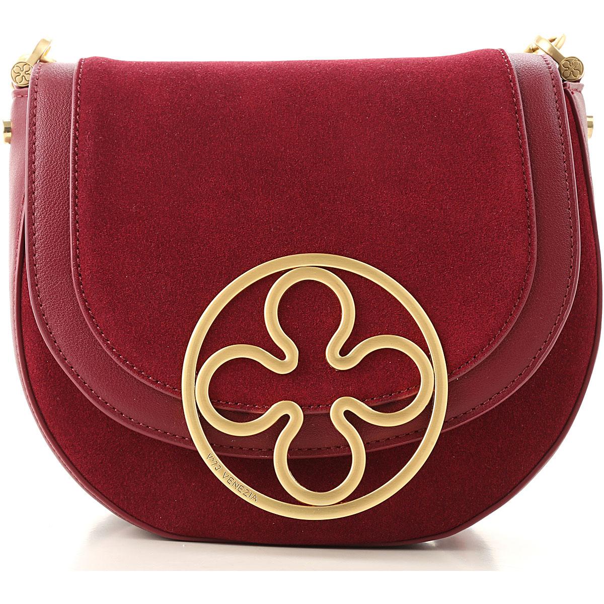 V73 Shoulder Bag for Women On Sale, Bordeaux, Leather, 2019