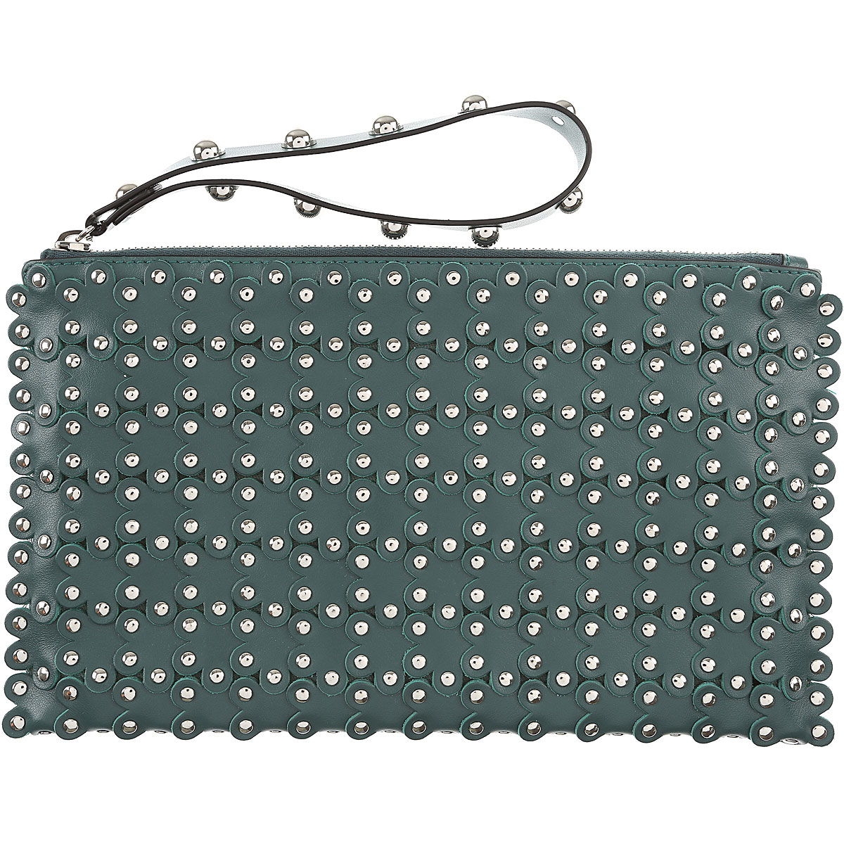Valentino Clutch Bag On Sale, Agave, Leather, 2017 USA-472194