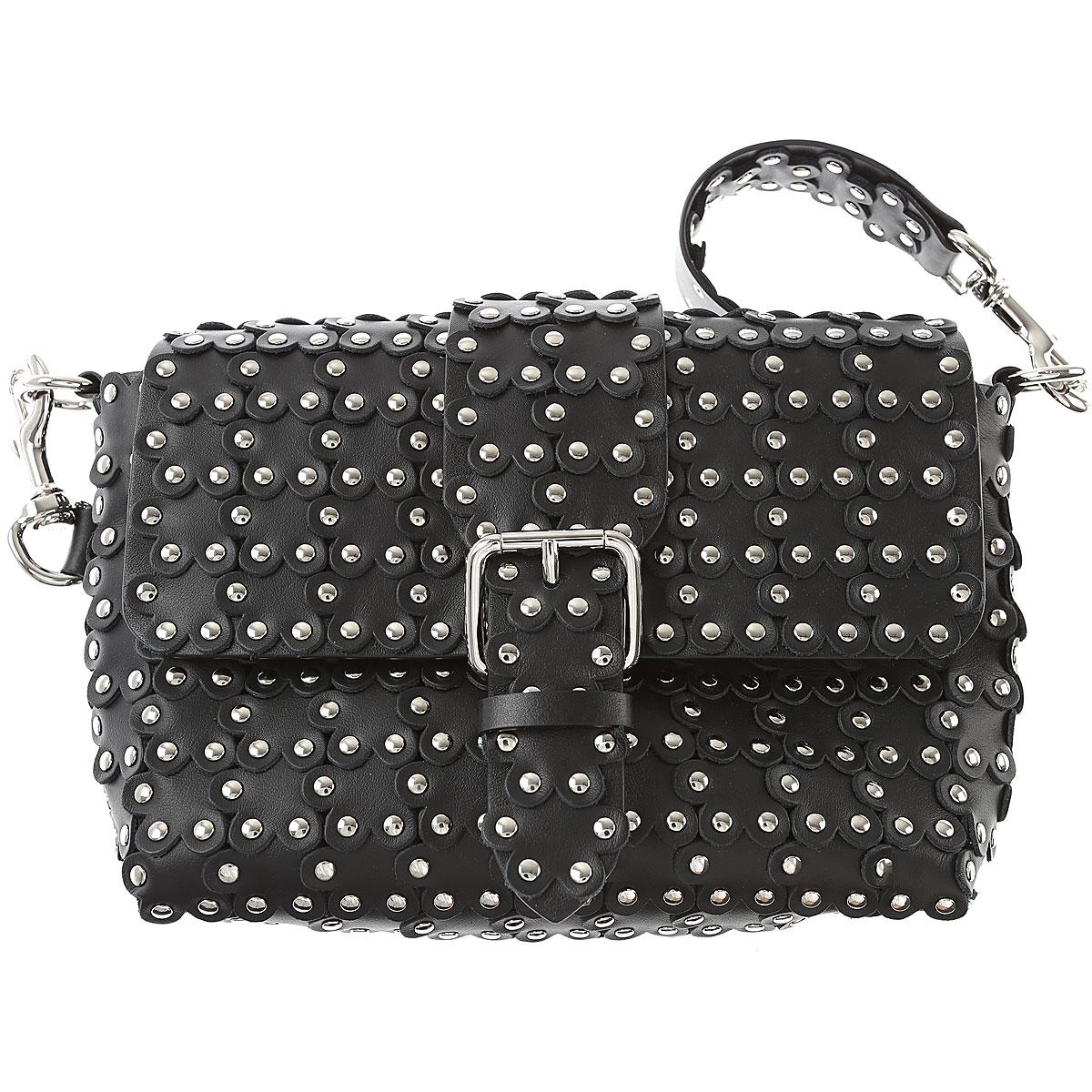 Valentino Shoulder Bag for Women, Red Valentino, Black, Leather, 2017 USA-456012