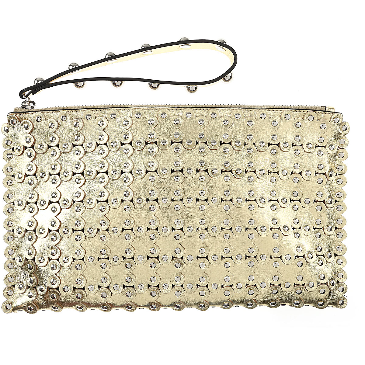 Valentino Women\'s Pouch On Sale, Gold, Leather, 2017 USA-458685