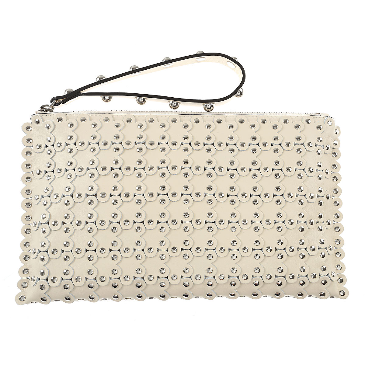 Valentino Clutch Bag, Red Valentino, Ivory, Leather, 2017 USA-456017