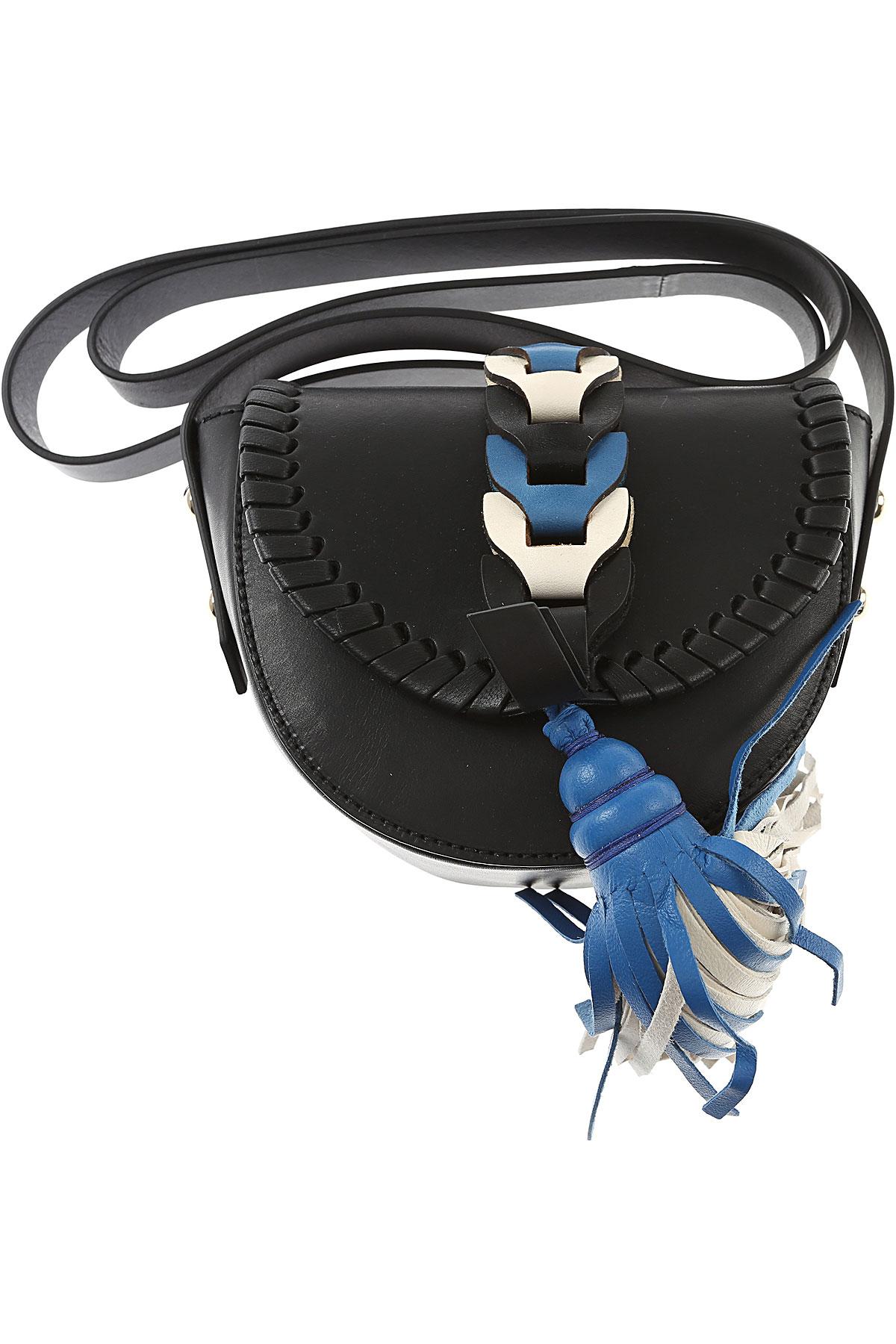 Valentino Shoulder Bag for Women, Red Valentino, Black, Leather, 2017 USA-456021