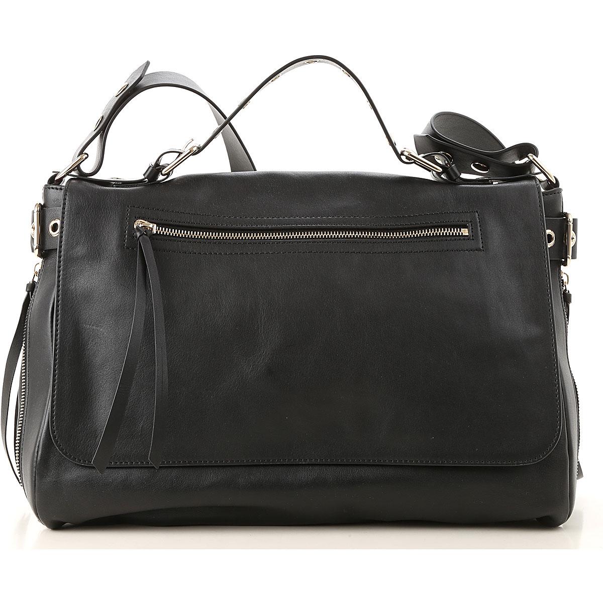 Valentino Top Handle Handbag, Red Valentino, Black, Leather, 2017 USA-474630