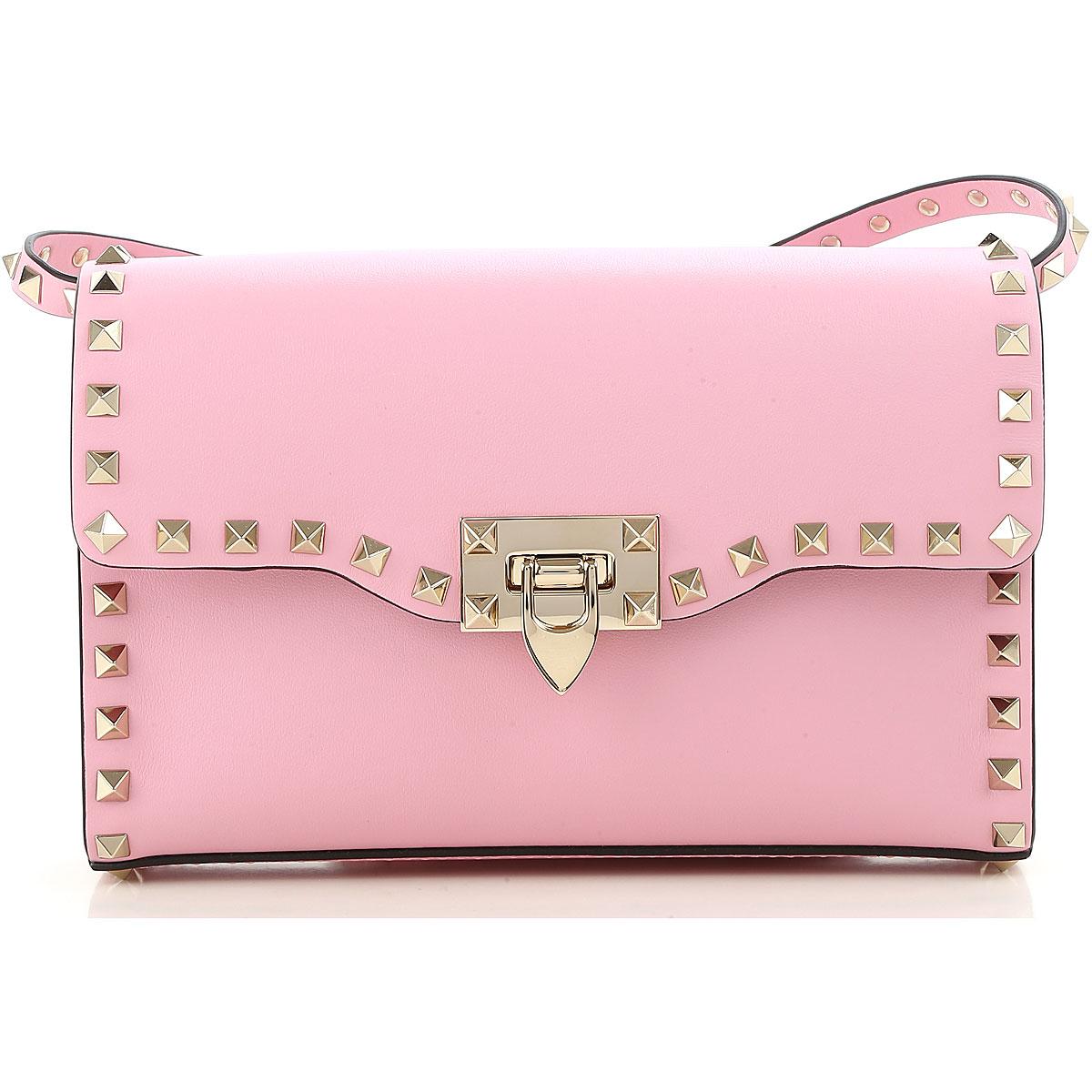Valentino Shoulder Bag for Women, Pink, Leather, 2017 USA-466154