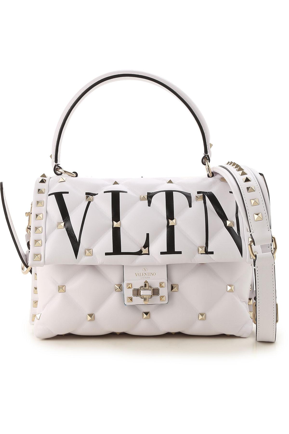 Valentino Top Handle Handbag, White, Leather, 2017 USA-469342