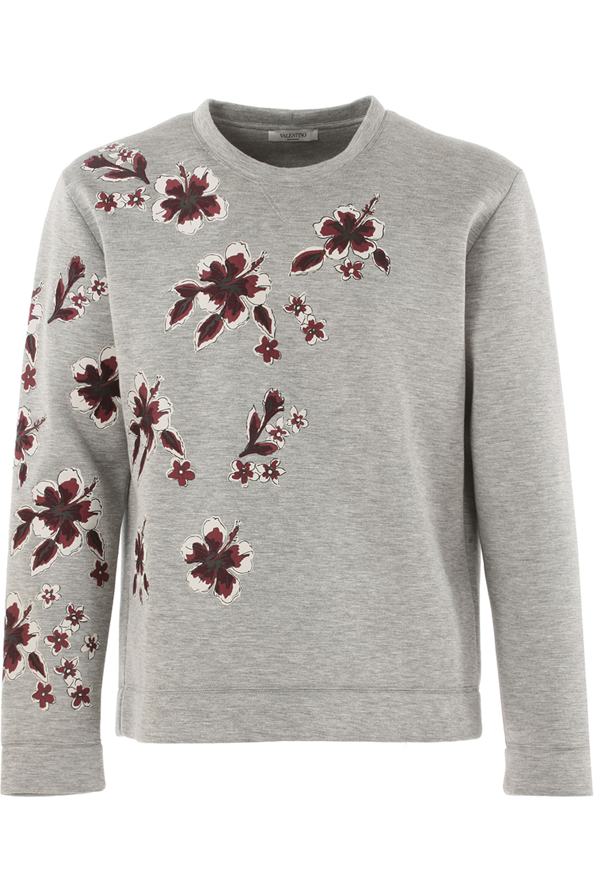 Valentino Sweatshirt for Men On Sale in Outlet, Grey, Modal, 2017, M S USA-382029