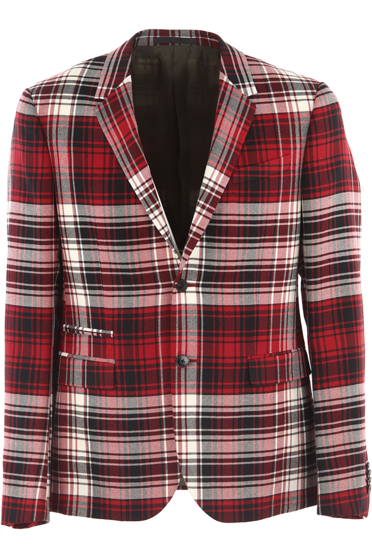 Image of Valentino Blazer for Men, Sport Coat On Sale in Outlet, Red Check, Virgin wool, 2017, L M