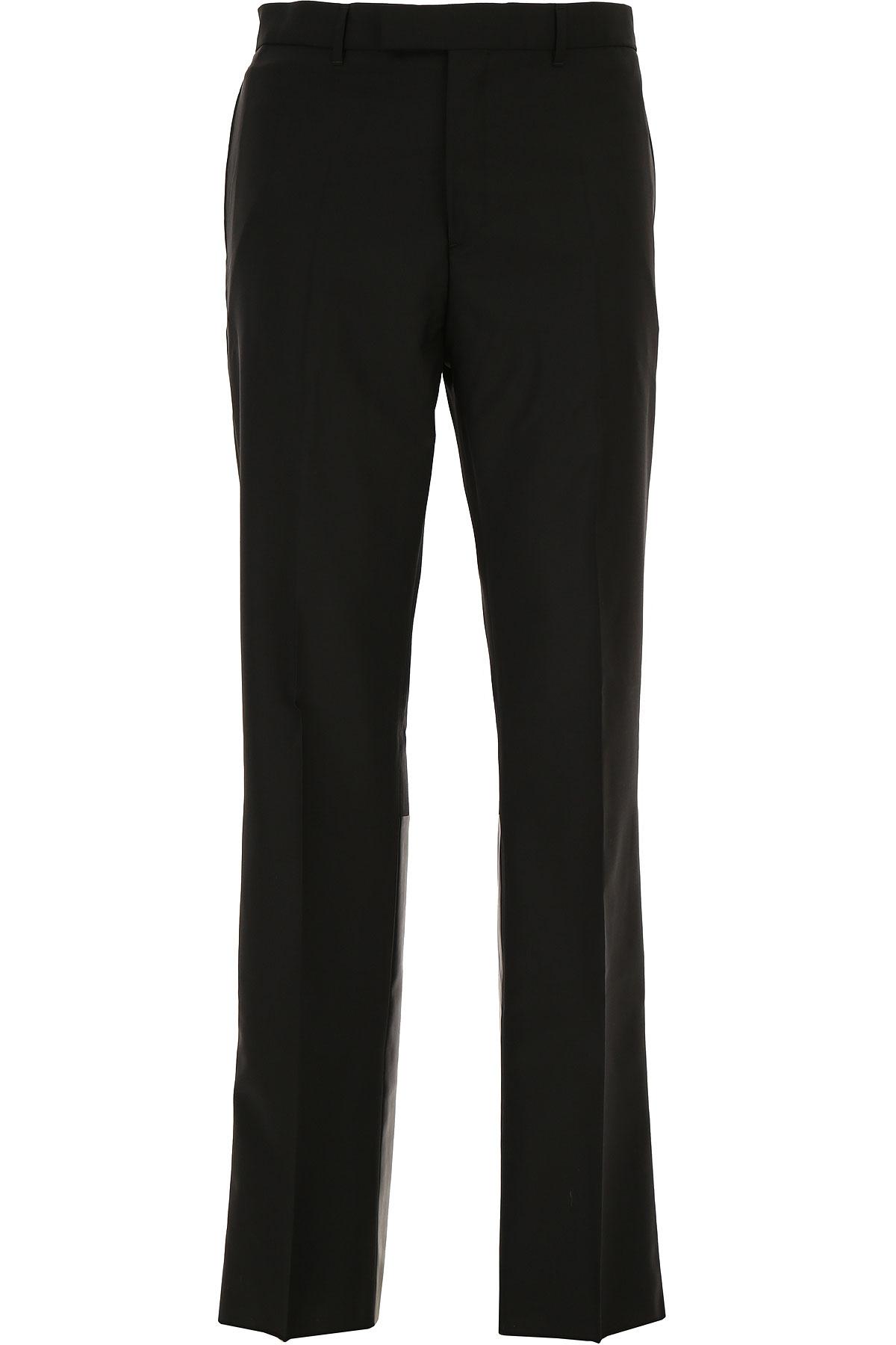 Valentino Pantalon Homme Pas cher en Soldes Outlet, Noir, Laine, 2017, 50 L M S
