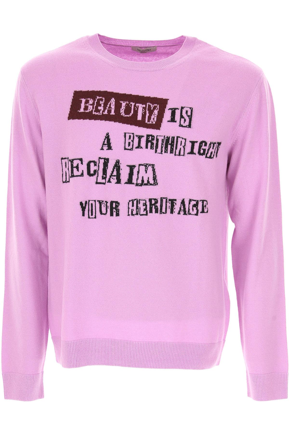 バレンチノ セーター男性用 メンズ アウトレットセール, ライラック, ウール, 2017, L S XL