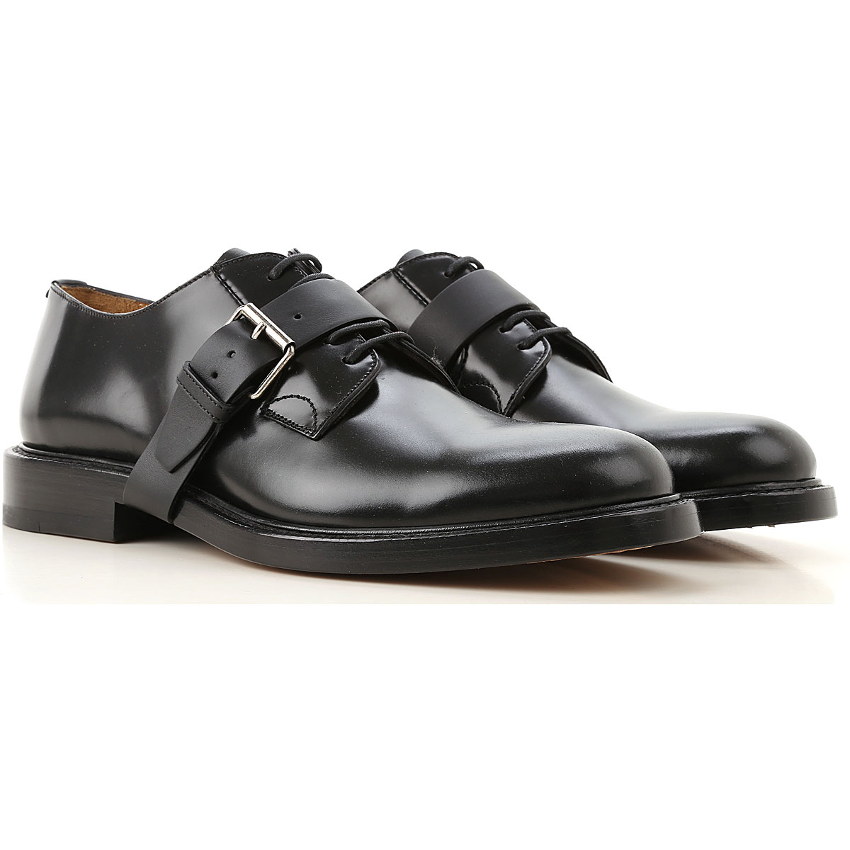 Valentino Garavani Lace Up Shoes for Men Oxfords, Derbies and Brogues On Sale in Outlet, Black, Leather, 2019, 9 9.5