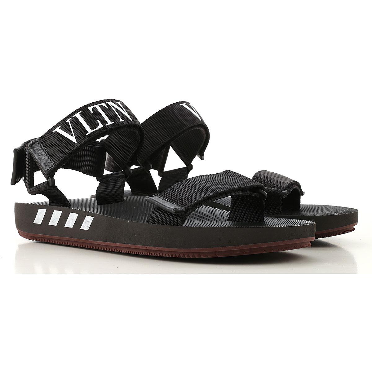 Valentino Garavani Sandals for Men On Sale in Outlet, Black, polyester, 2019, 7.5 9
