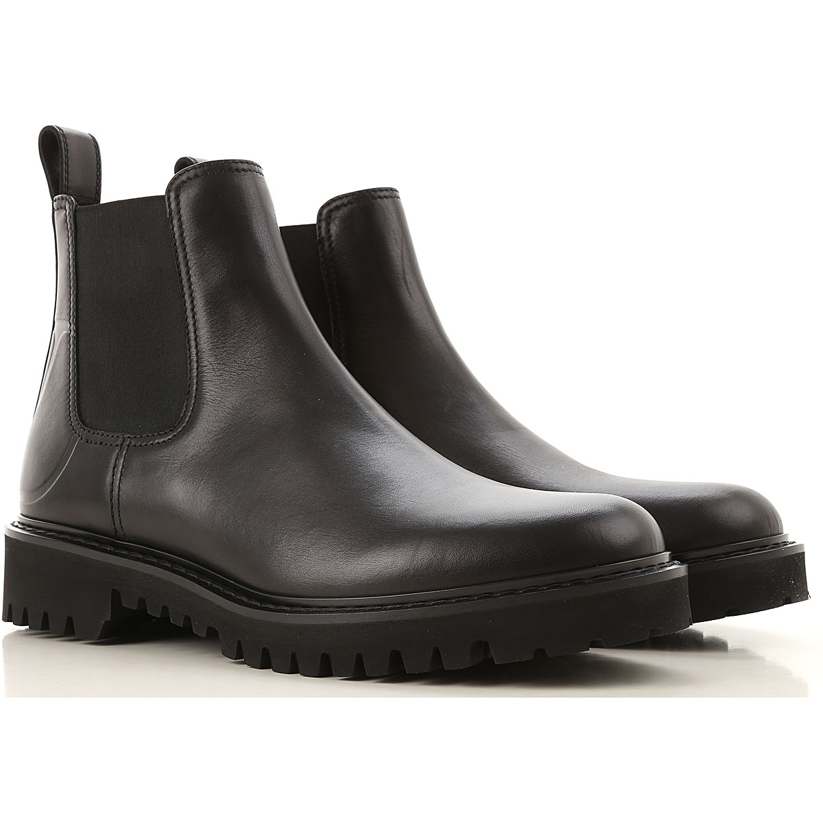 Valentino Garavani Chelsea Boots for Men On Sale, Black, Leather, 2019, 10.5 11.5 7.5 9