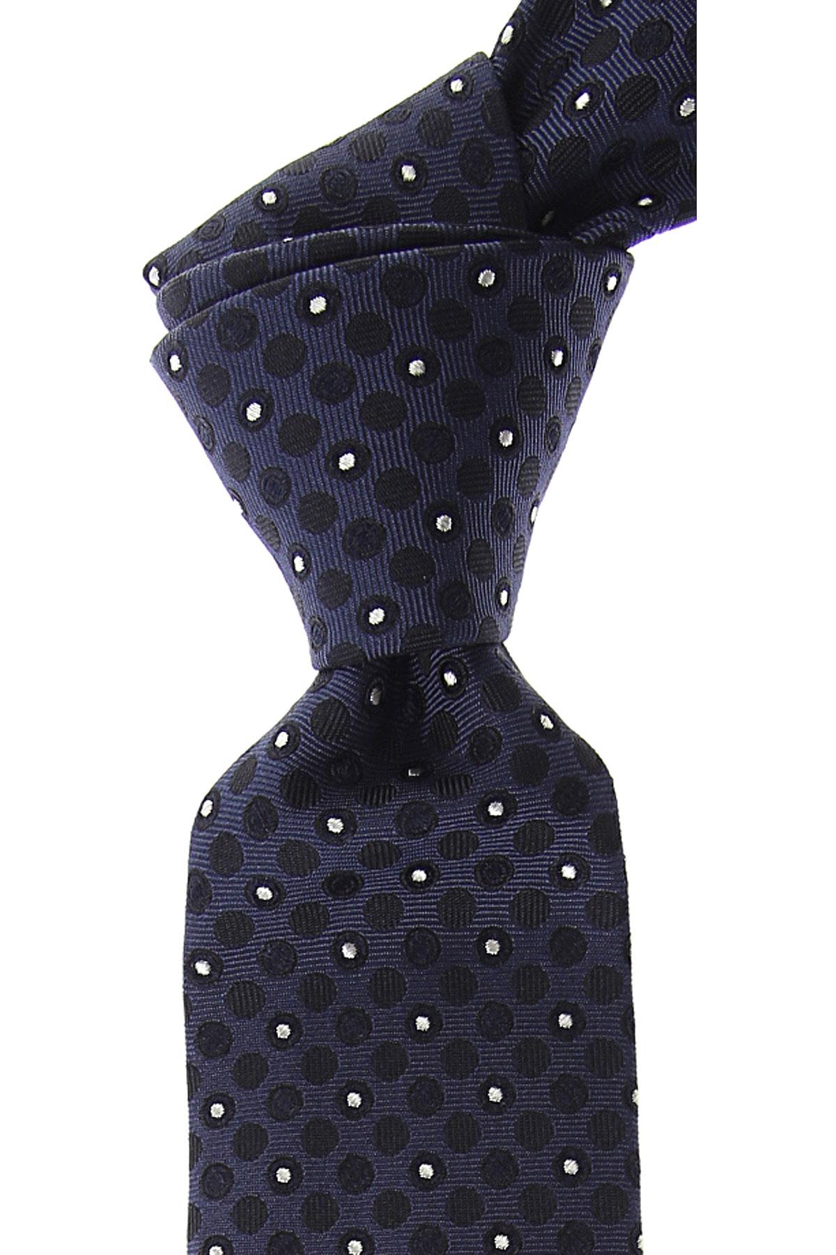 Valentino Cravates Pas cher en Soldes, Bleu nuit, Soie, 2019