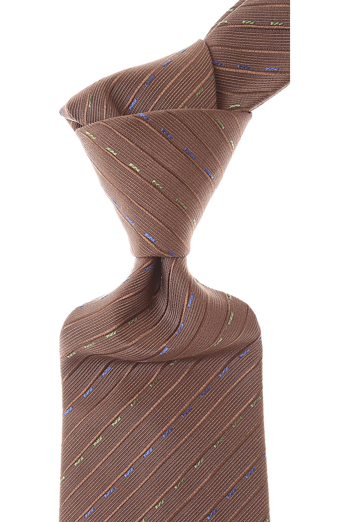 Valentino Cravates Pas cher en Soldes, Brun chocolat, Soie, 2021