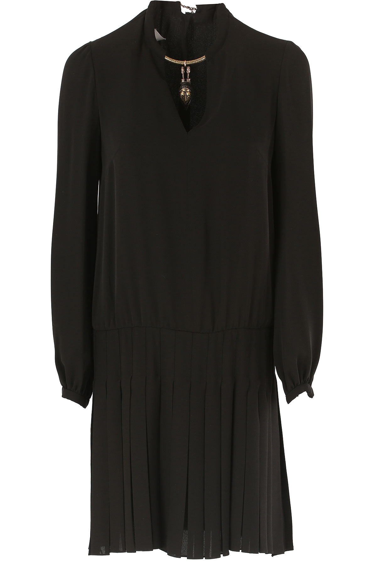 Valentino Dress for Women, Evening Cocktail Party On Sale in Outlet, Black, Silk, 2017, 4 6 USA-381640