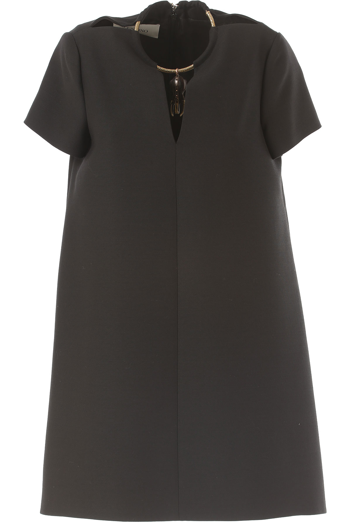 Valentino Dress for Women, Evening Cocktail Party On Sale in Outlet, Black, Virgin, 2017, 6 8 USA-381658