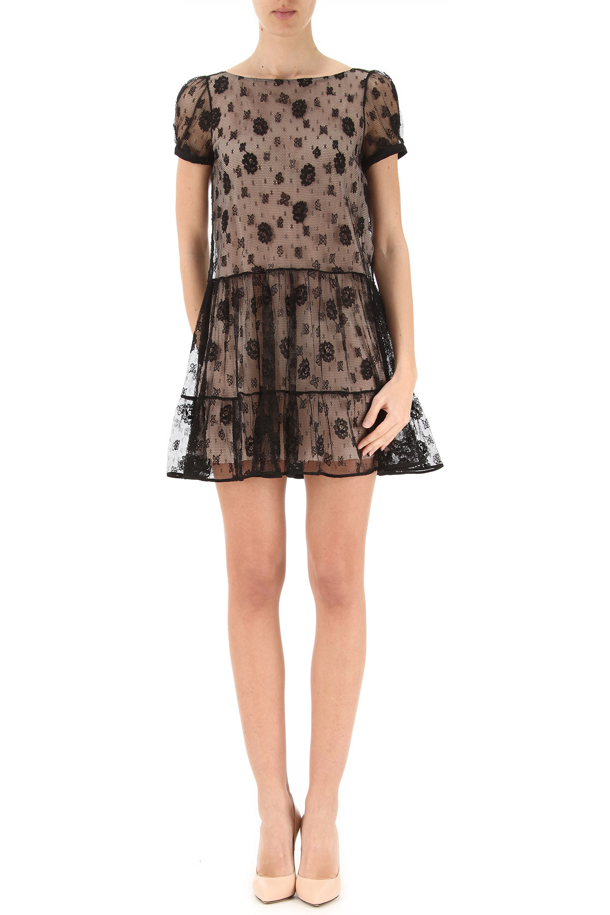 Valentino Dress for Women, Evening Cocktail Party On Sale in Outlet, Black, polyamide, 2017, 6 8 USA-355708