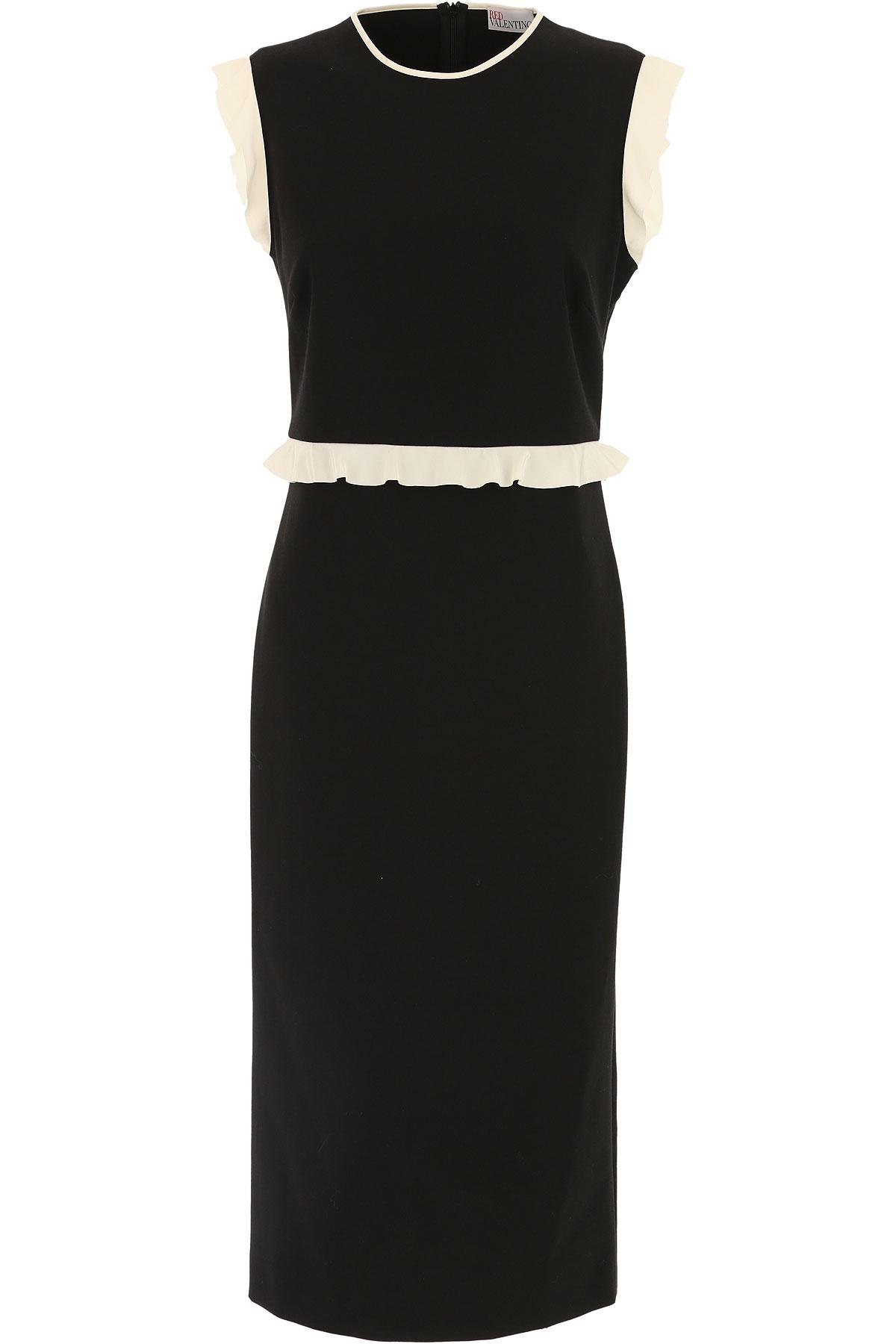 Valentino Robe Femme, Noir, Polyester, 2017, 38 40 42 44 46