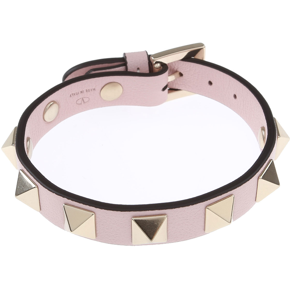 Valentino Bracelet for Women, Rose Quartz, Leather, 2019